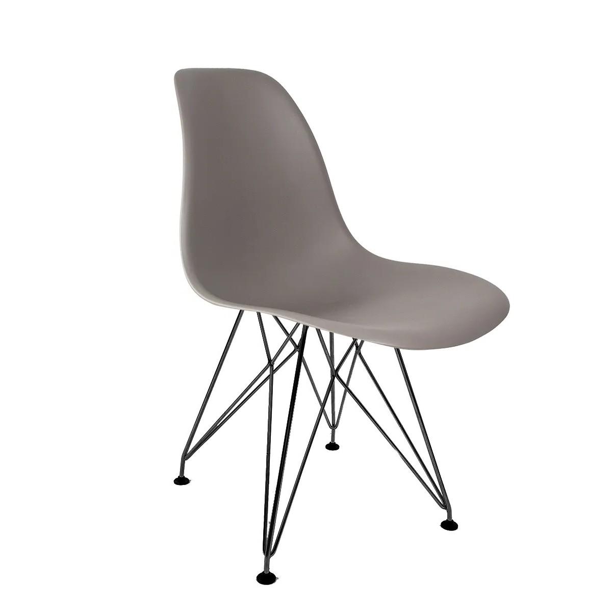 Cadeira Eames Cinza - Base Eiffel Preta