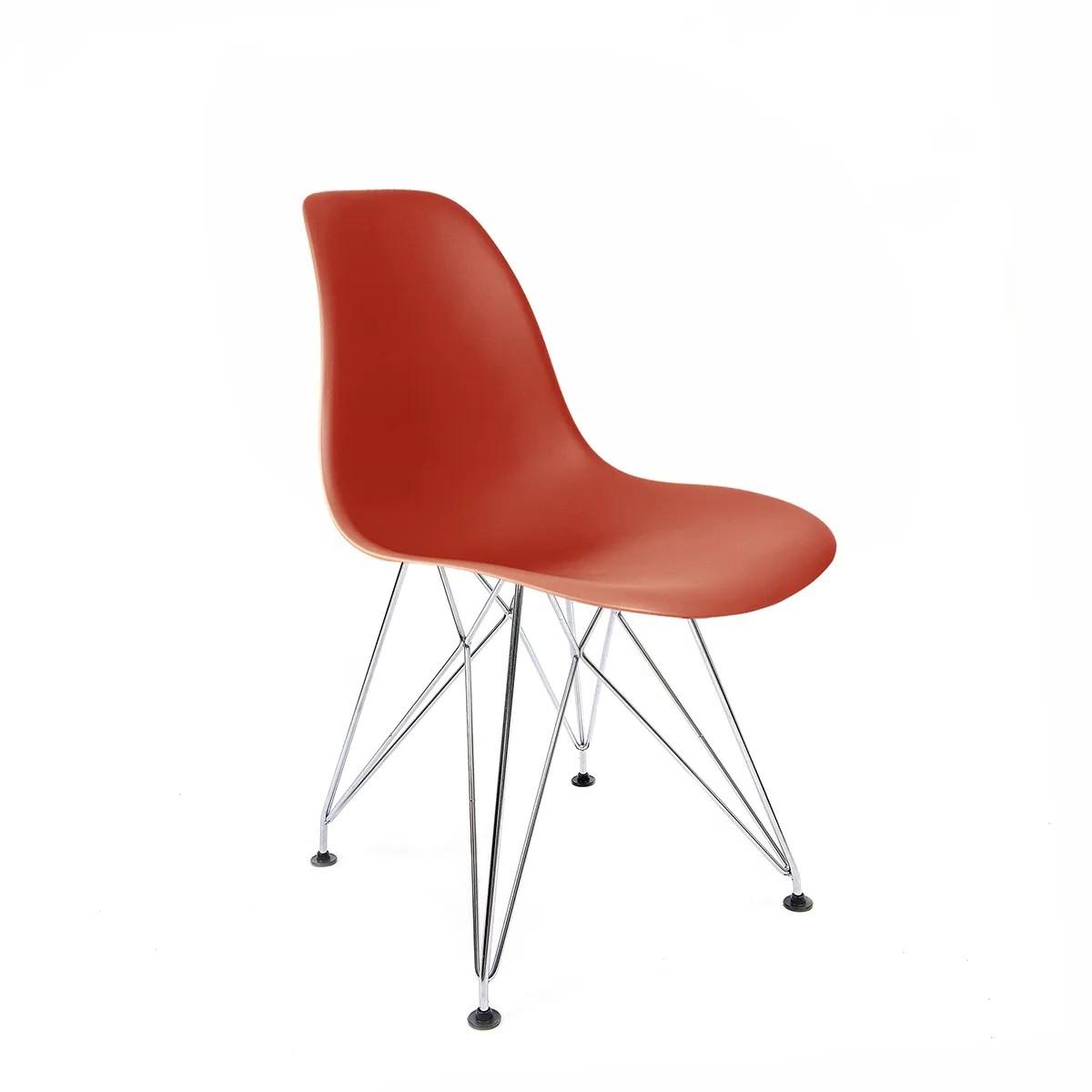 Cadeira Eames Coral - Base Eiffel Cromada