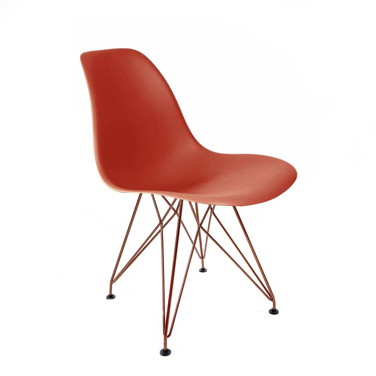 Cadeira Eames Coral - Base Eiffel Cobre