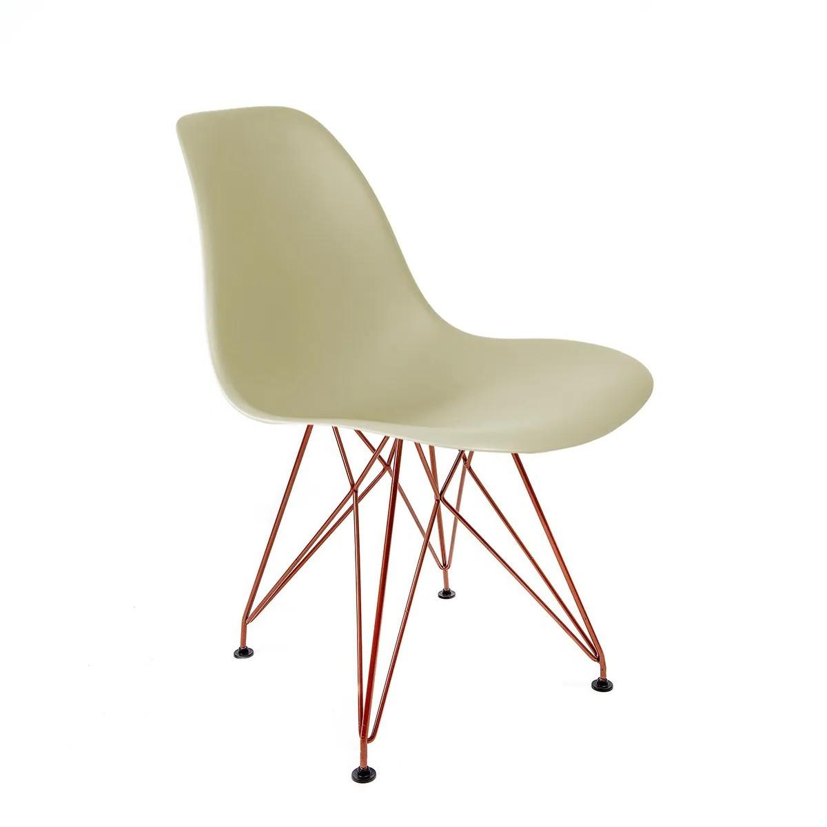 Cadeira Eames Fendi - Base Eiffel Cobre