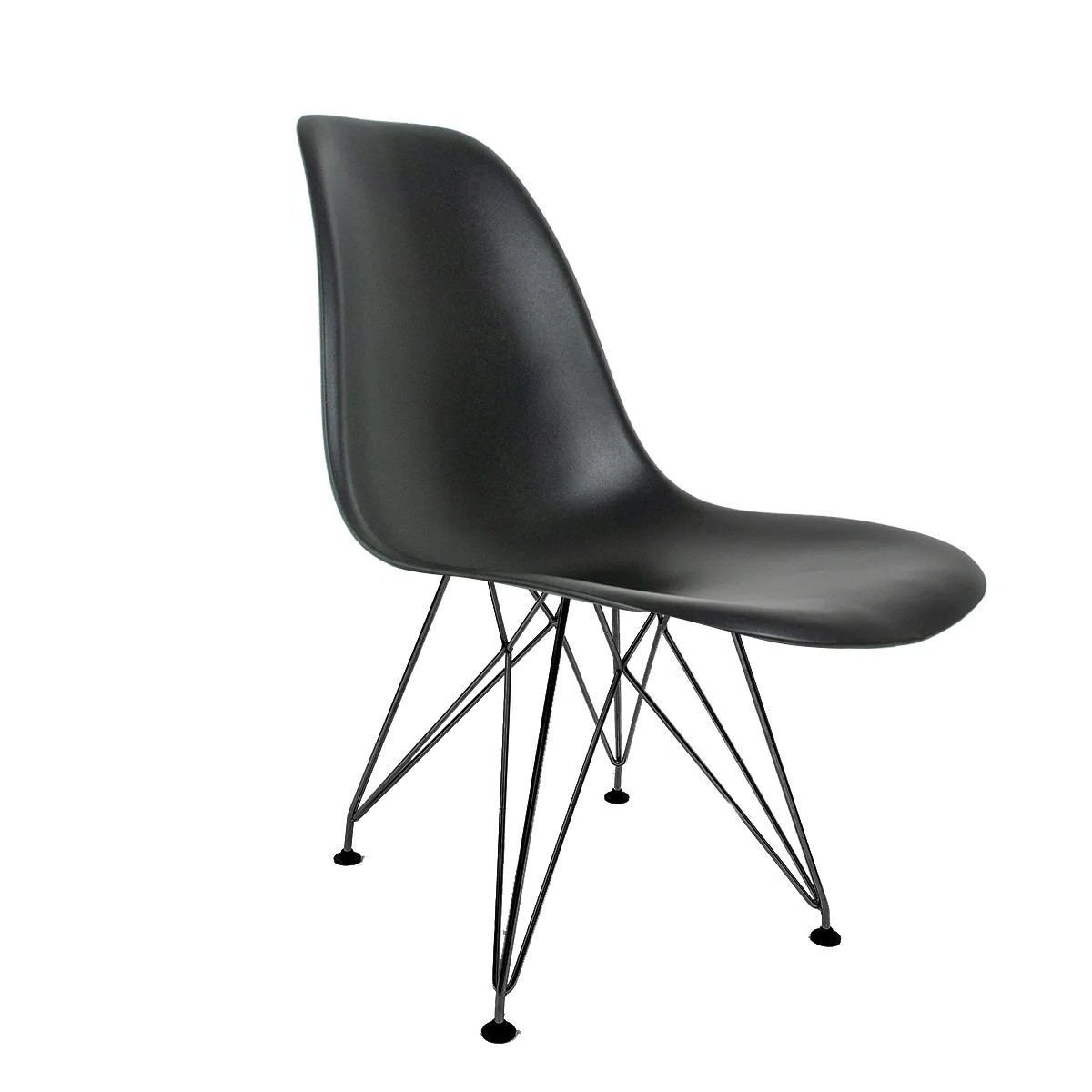 Cadeira Eames Preta - Base Eiffel Preta