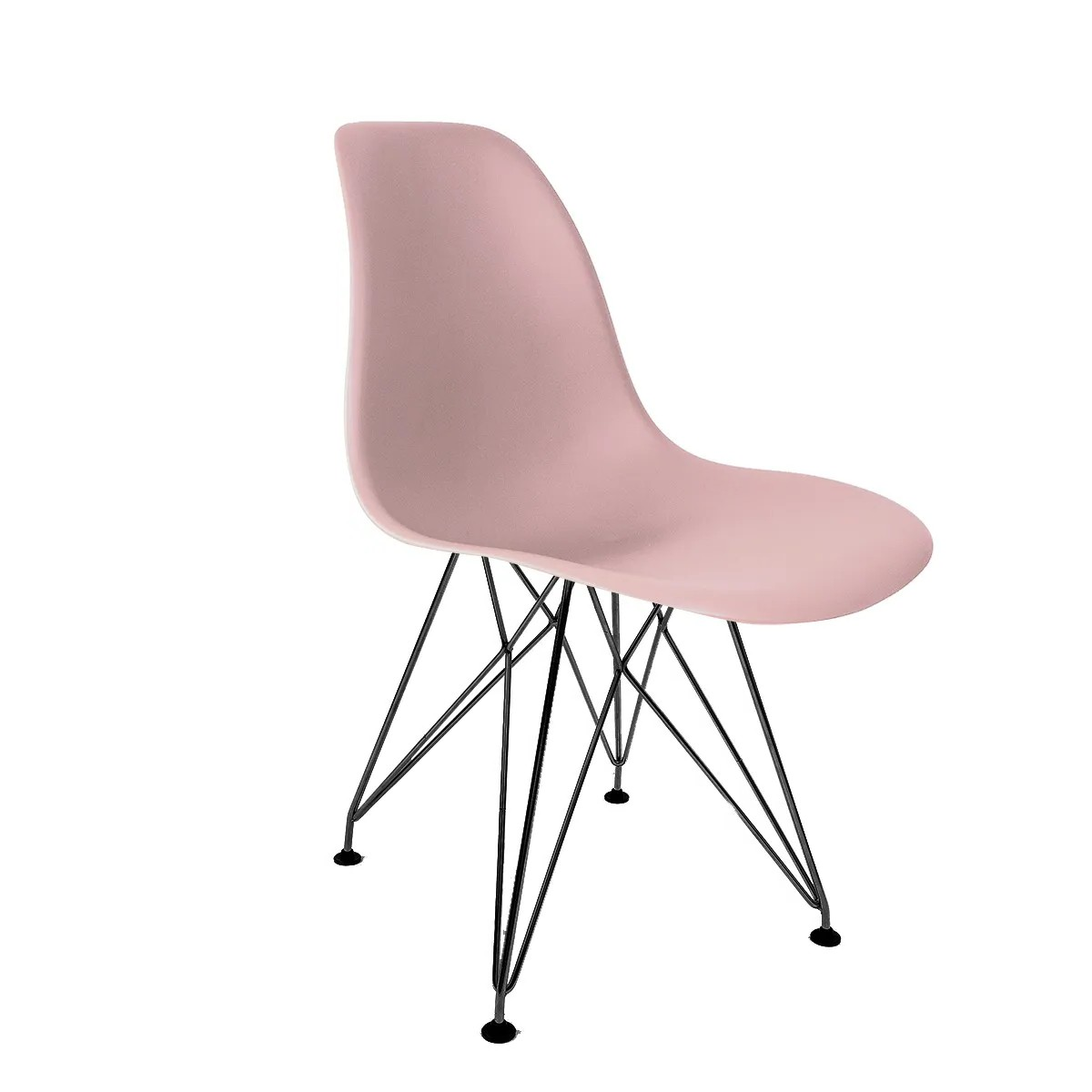 Cadeira Eames Rosa - Base Eiffel Preta