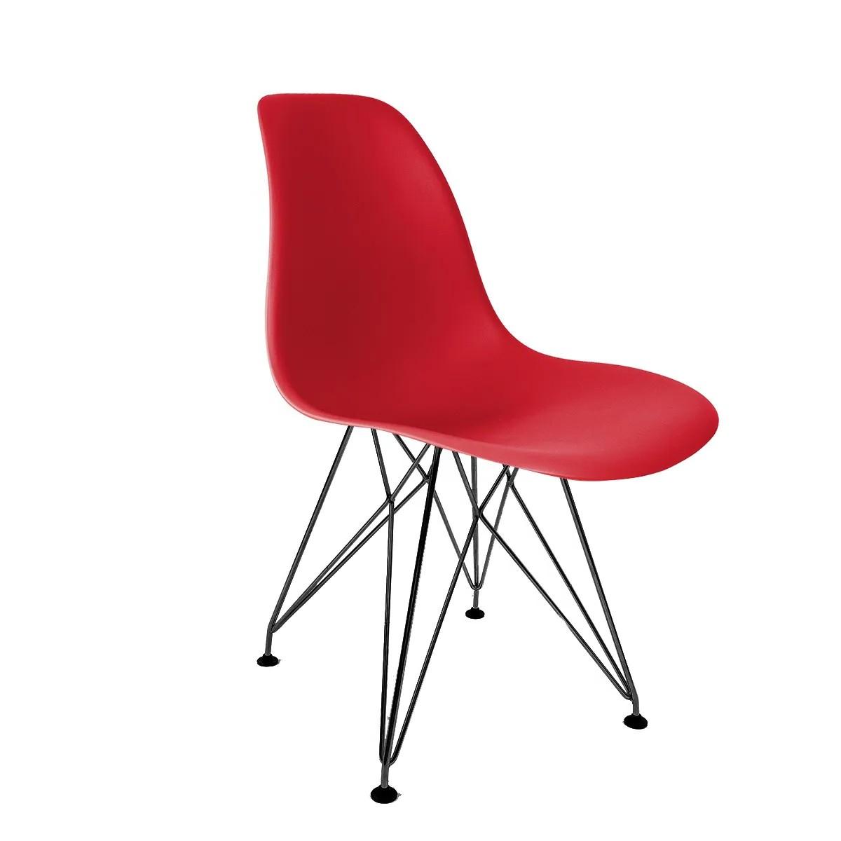 Cadeira Eames Vermelha - Base Eiffel Preta