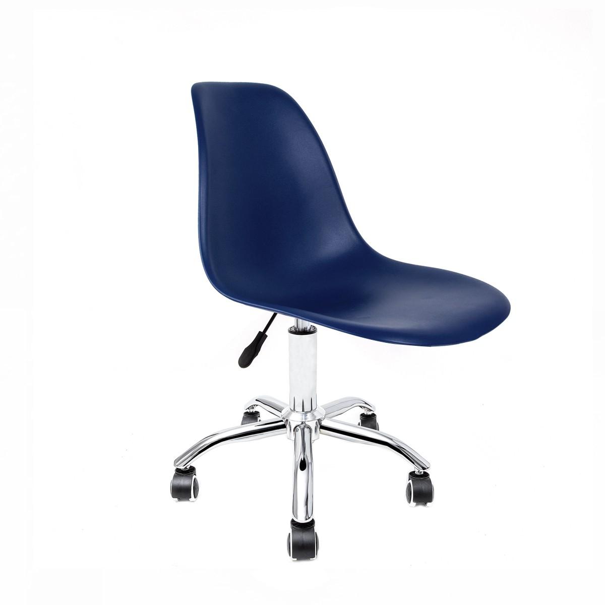 Cadeira Eames Azul Bic - Base Office Cromada