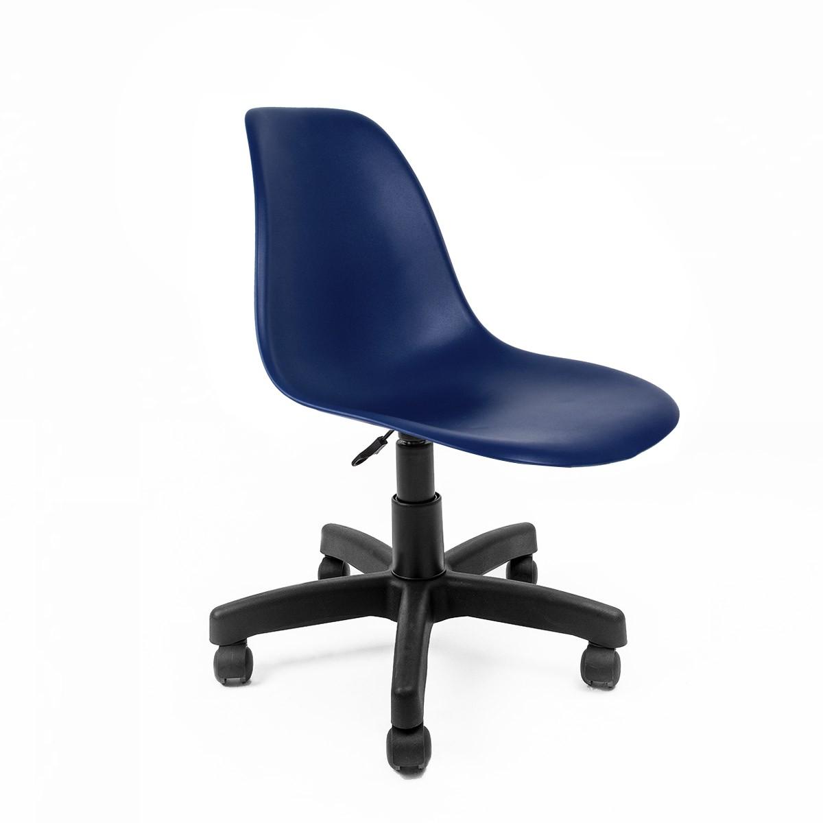 Cadeira Eames Azul Bic - Base Office  Preta