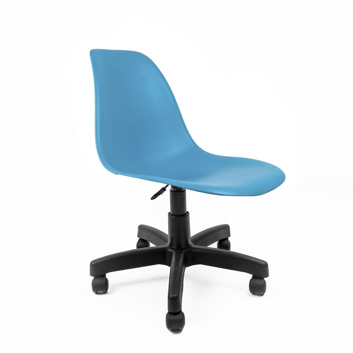Cadeira Eames Azul Turquesa - Base Office Preta