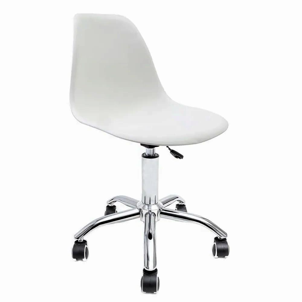 Cadeira Eames Branca - Base Office Cromada