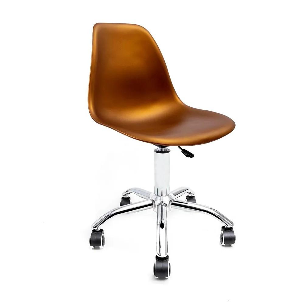 Cadeira Eames Bronze - Base Office Cromada