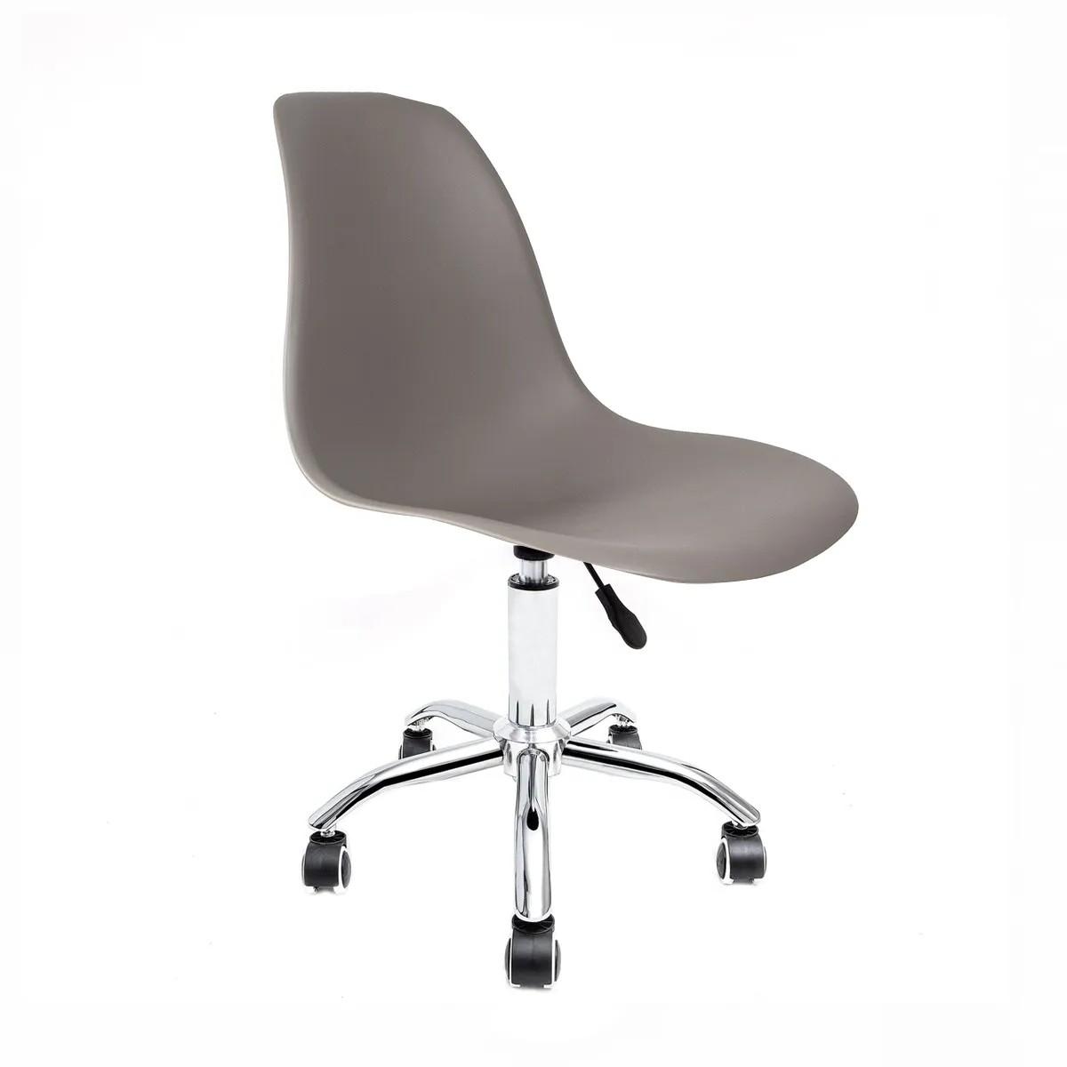 Cadeira Eames Cinza - Base Office Cromada