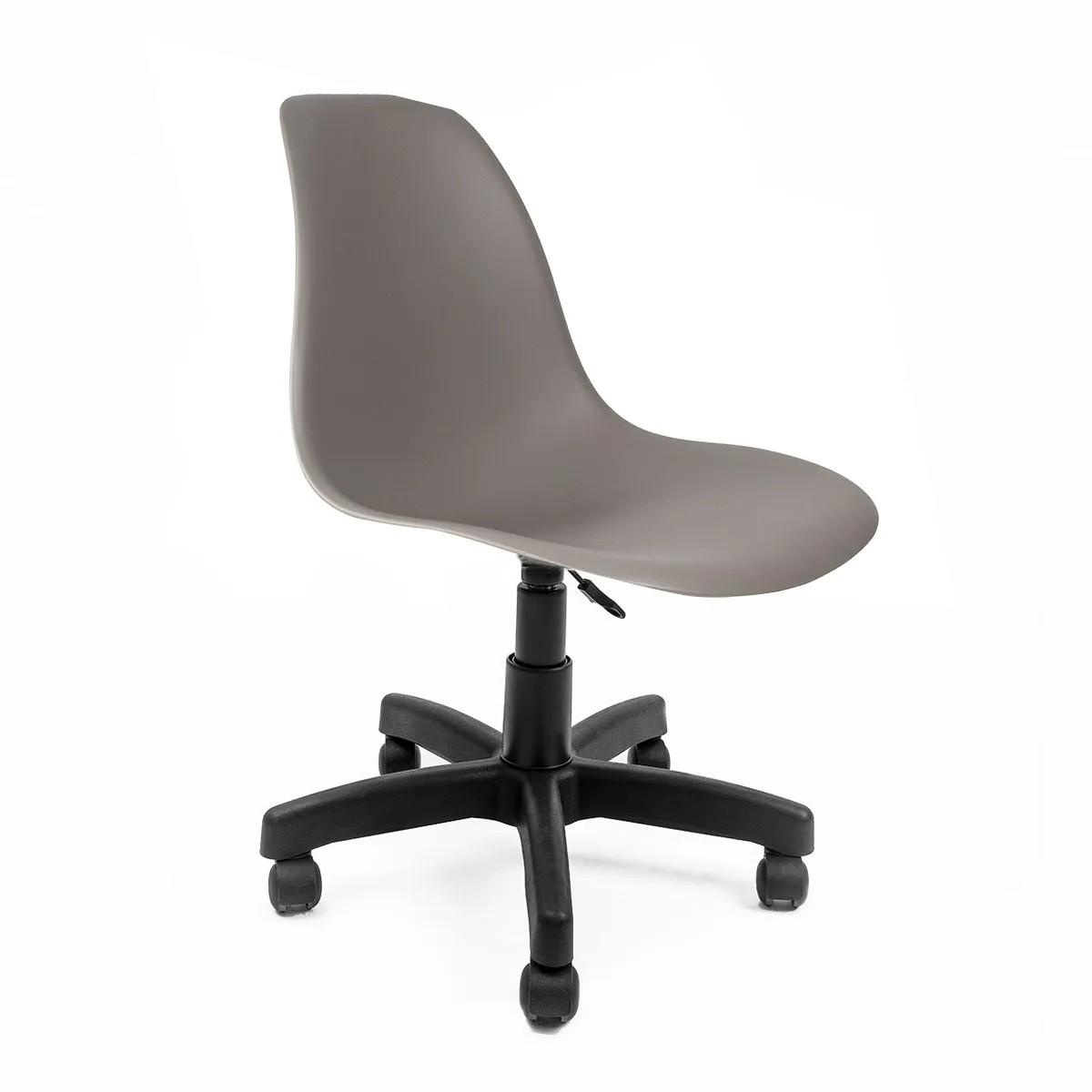 Cadeira Eames Cinza - Base Office Preta