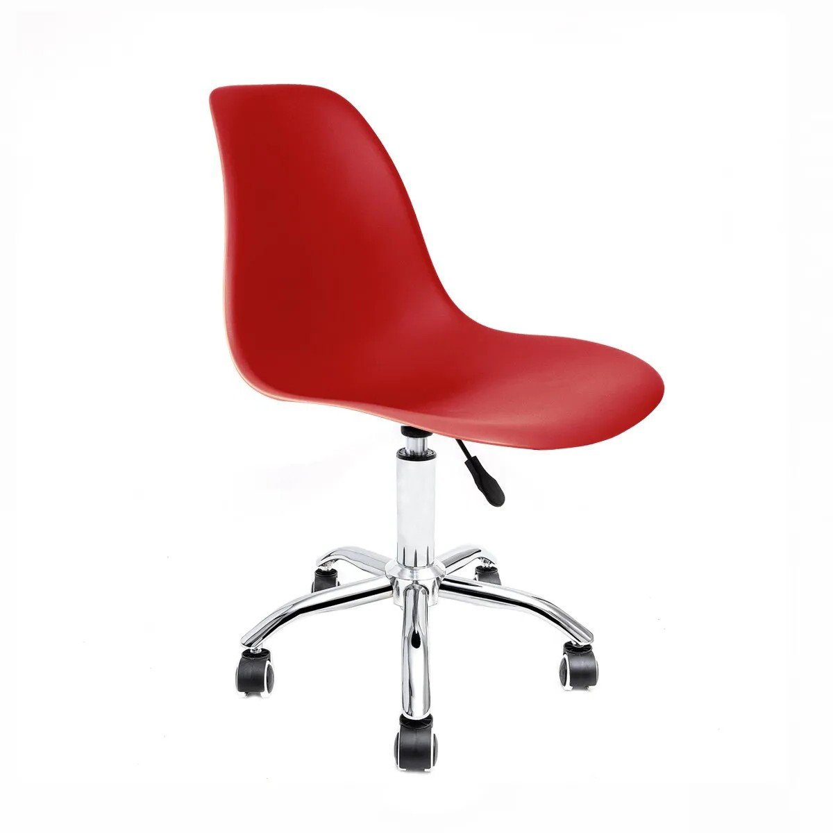 Cadeira Eames Vermelha - Base Office Cromada