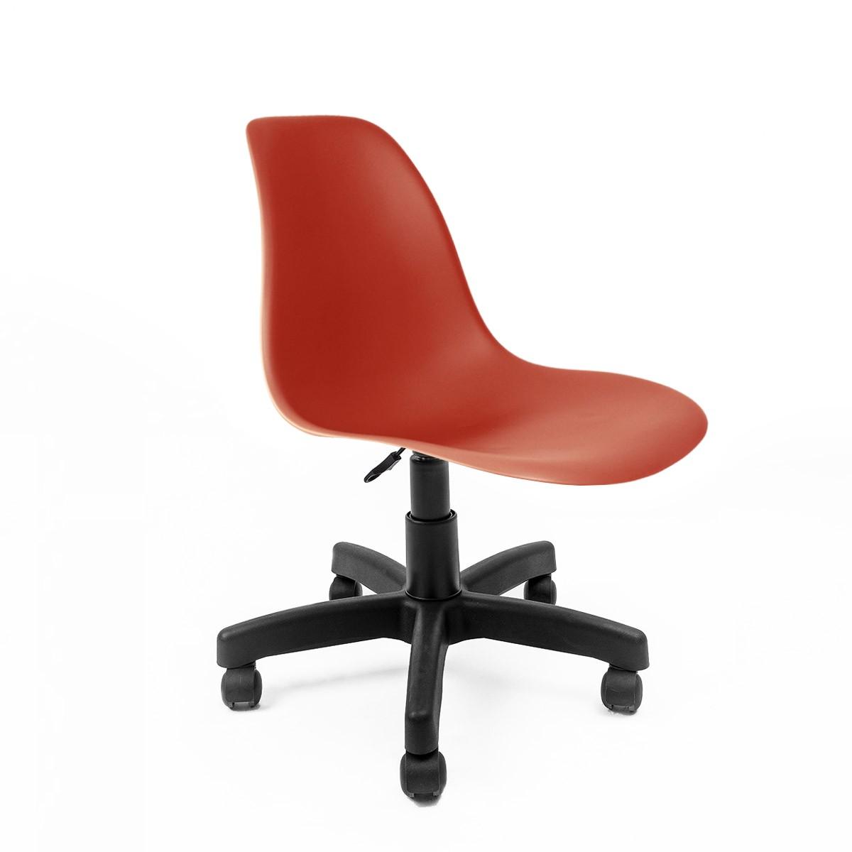 Cadeira Eames Vermelha - Base Office Preta
