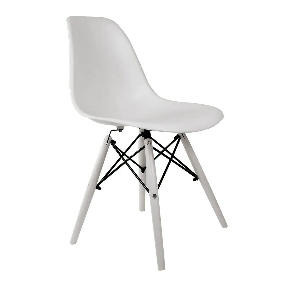 Cadeira Eames White Edition - Base Branca Polipropileno