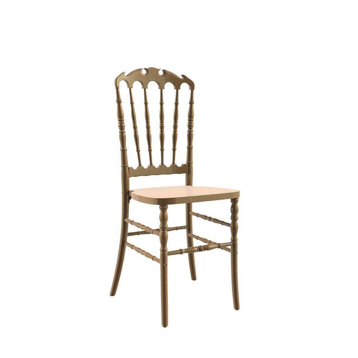 Cadeira Royal Polipropileno Dourada
