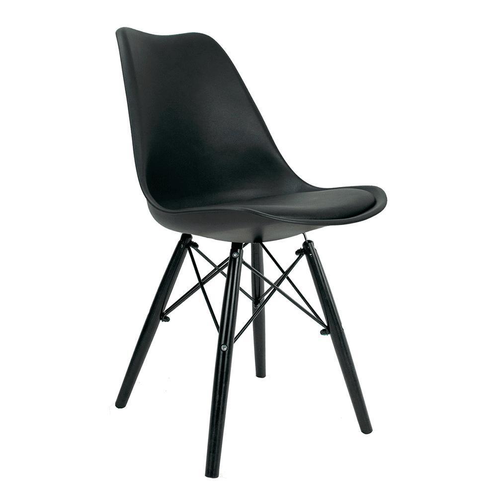 Cadeira Saarinen Black Edition - Base Preta