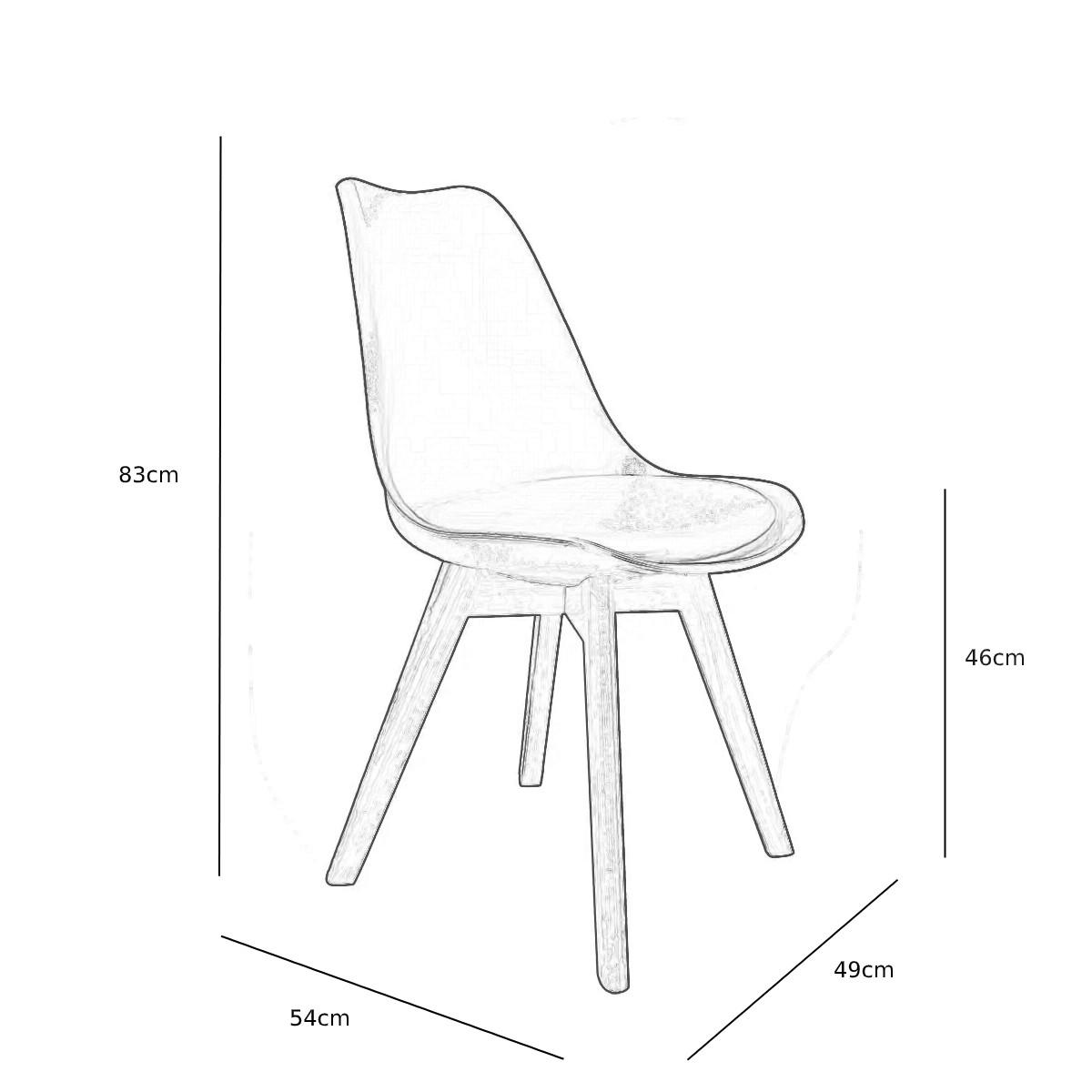 Cadeira Saarinen Cinza - Base Wood
