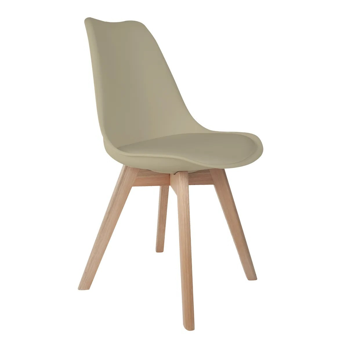 Cadeira Saarinen Nude - Base Wood