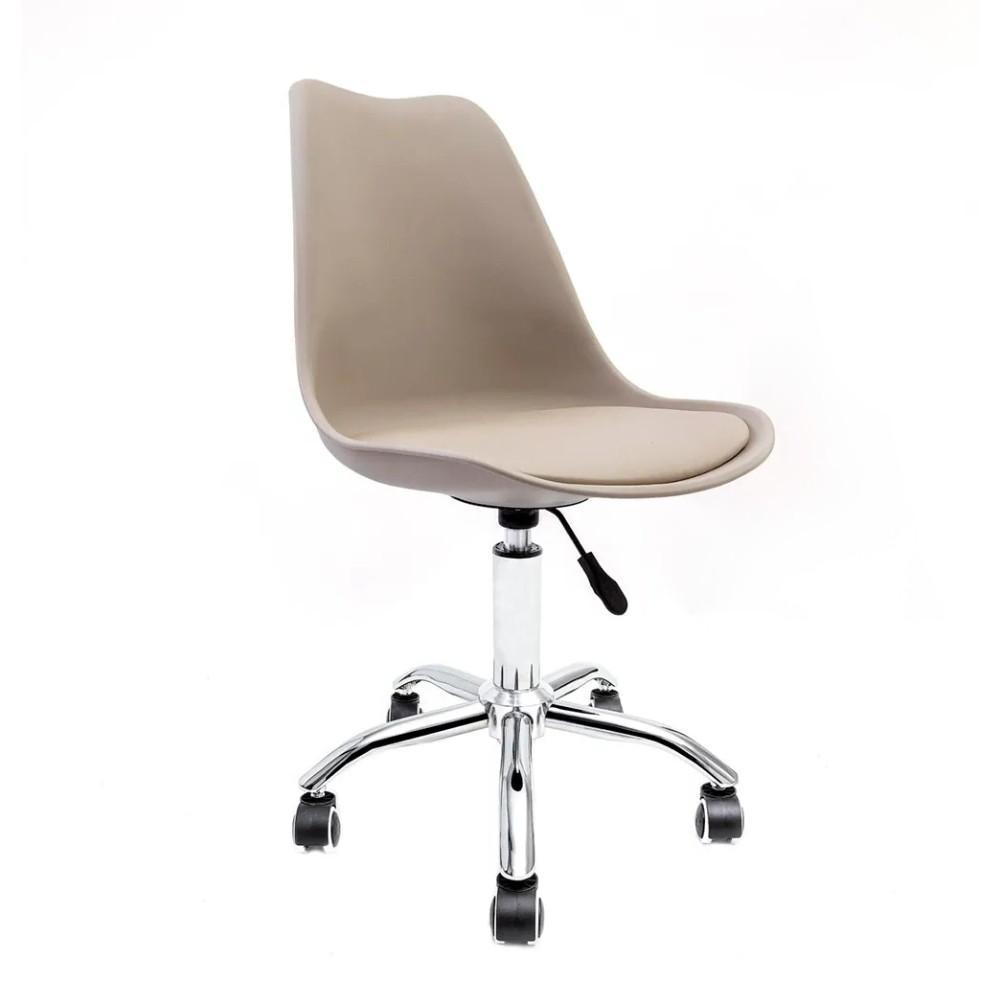 Cadeira Saarinen Nude - Base Office Cromada