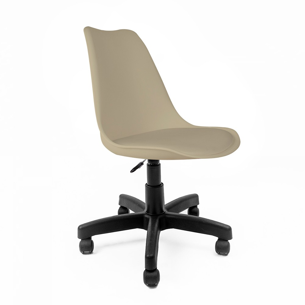 Cadeira Saarinen Nude - Base Office Preta