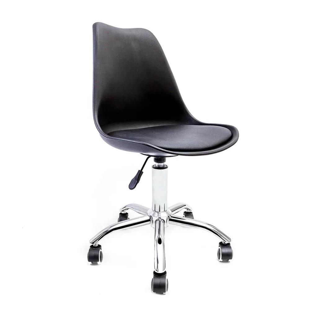 Cadeira Saarinen Preta - Base Office Cromada