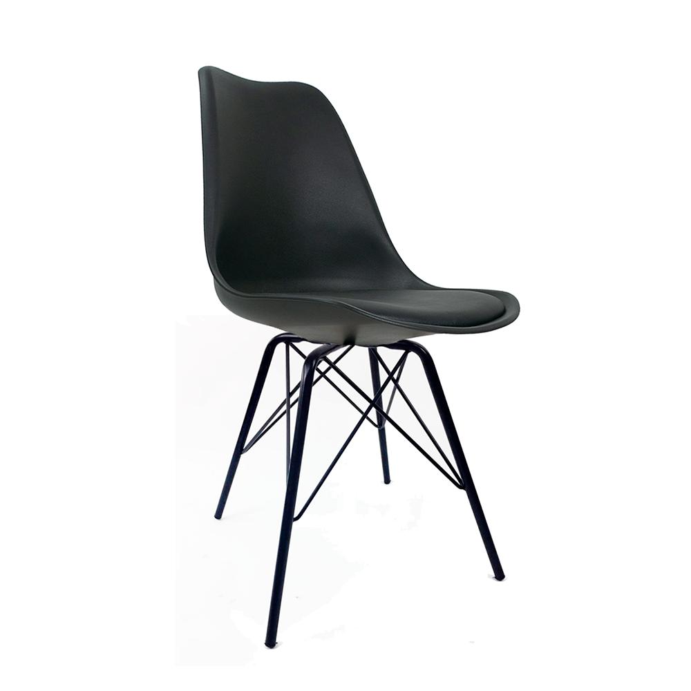 Cadeira Saarinen Black Edition - Base Tower Preta