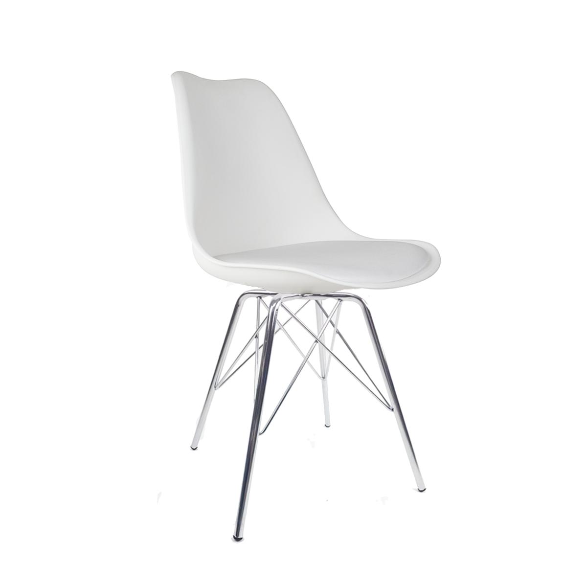 Cadeira Saarinen Branca - Base Tower Cromado