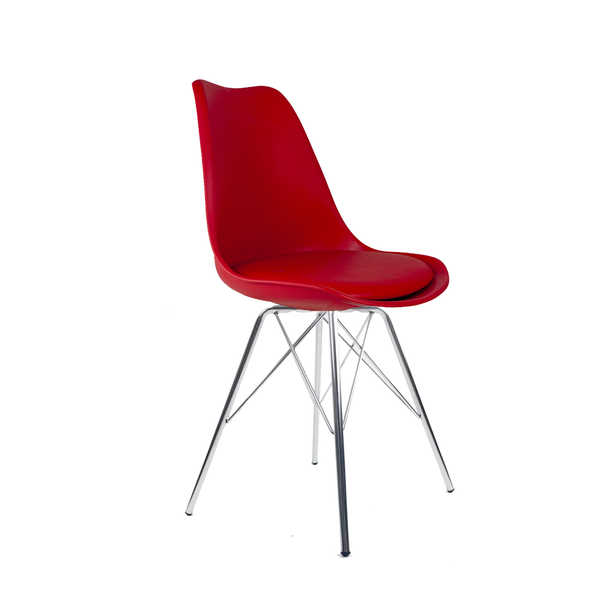 Cadeira Saarinen Vermelha - Base Tower Cromado