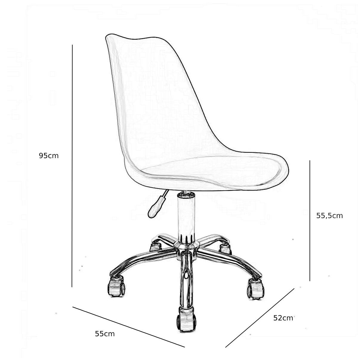 Cadeira Saarinen Vermelha - Base Office Preta