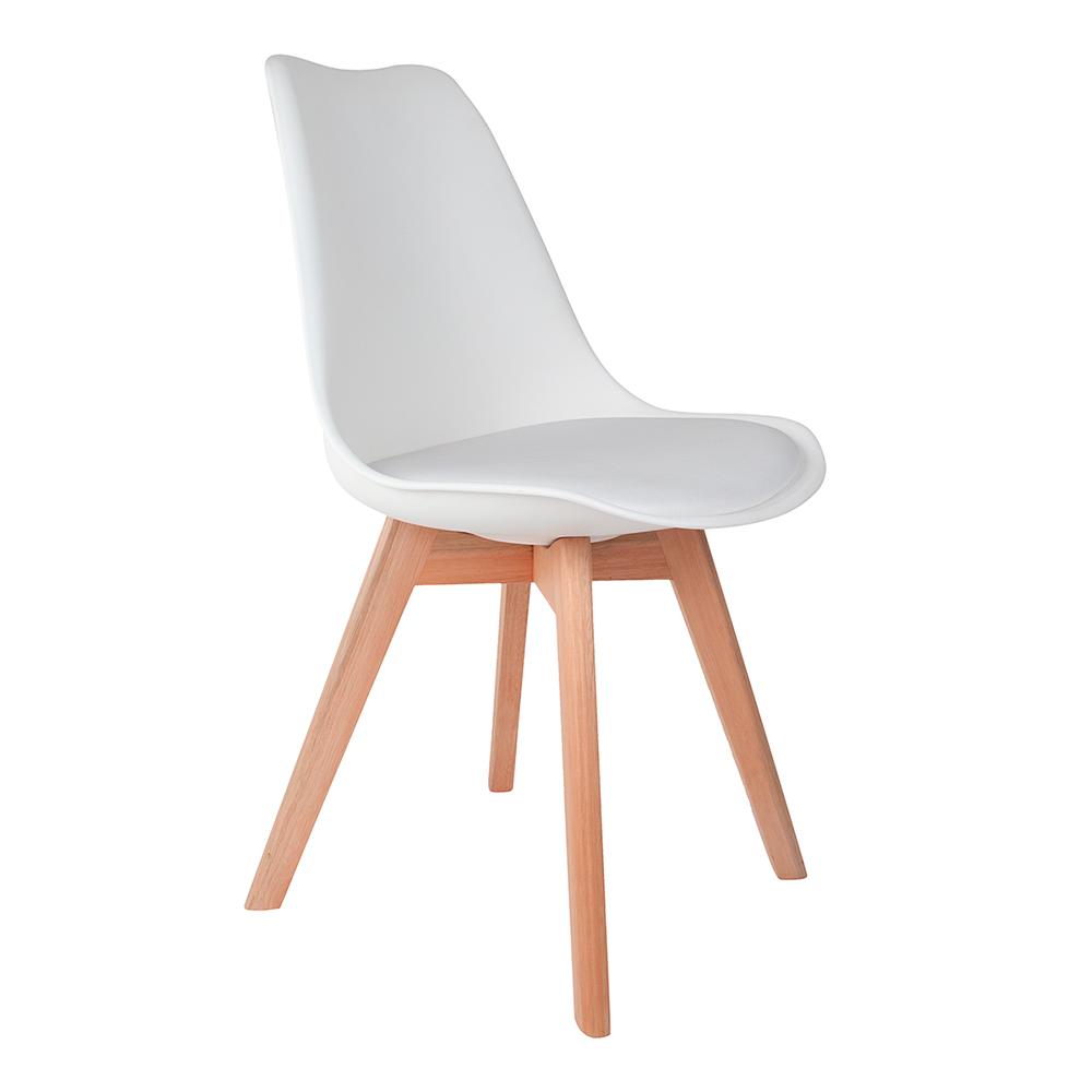 Cadeira Saarinen Branca - Base Wood