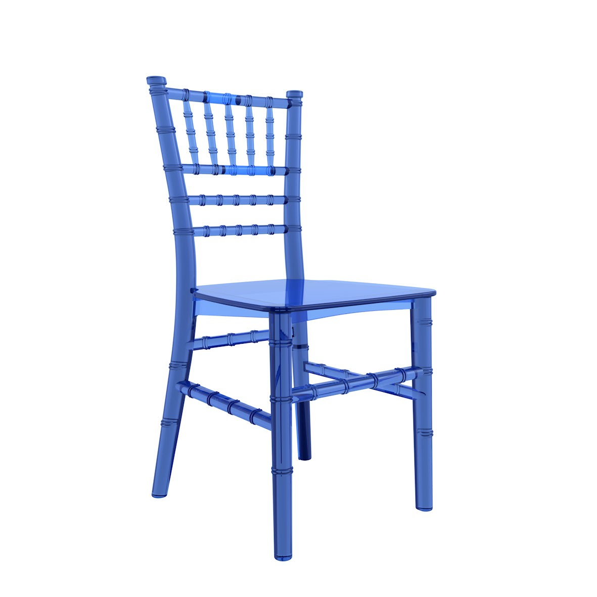 Cadeira Tiffany Infantil Policarbonato Cristal Azul
