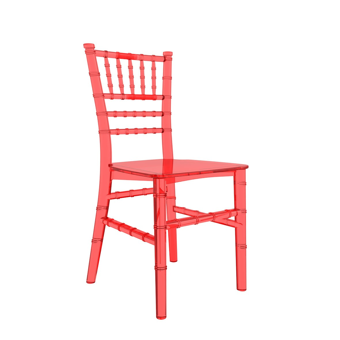 Cadeira Tiffany Infantil Policarbonato Cristal Vermelha