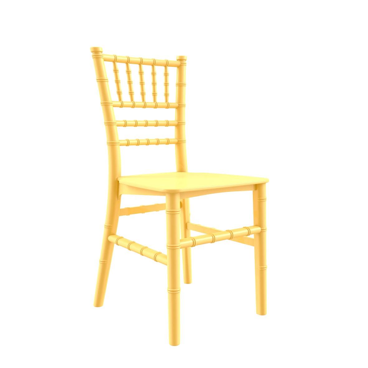 Cadeira Tiffany Infantil Polipropileno Amarela Claro
