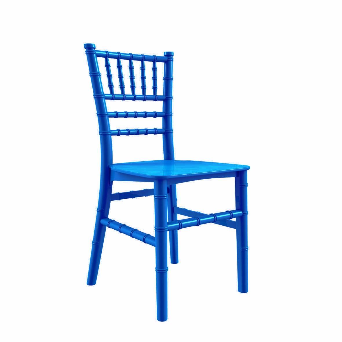 Cadeira Tiffany Infantil Polipropileno Azul Pérola