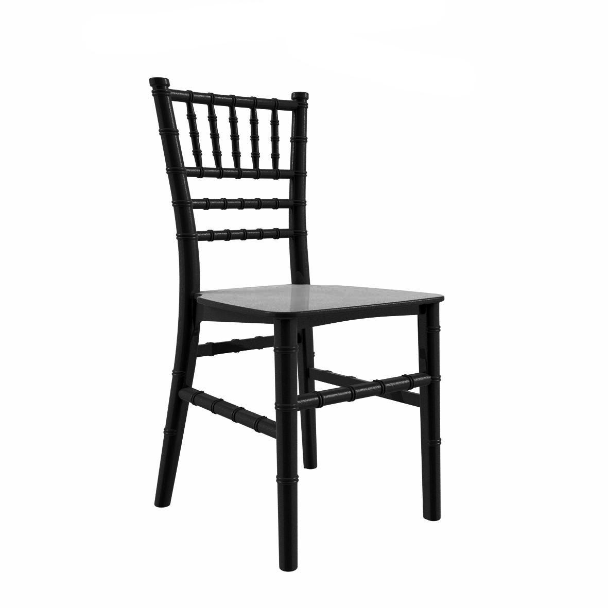 Cadeira Tiffany Infantil Polipropileno Preta