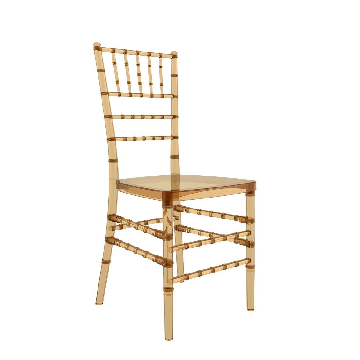 Cadeira Tiffany Policarbonato Âmbar