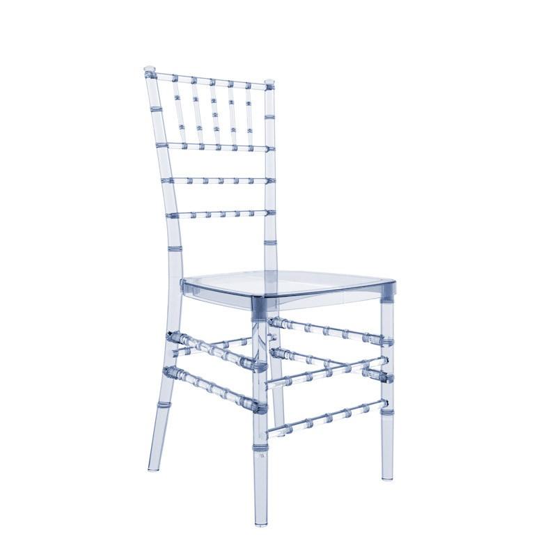 Cadeira Tiffany Policarbonato Cristal Azulado