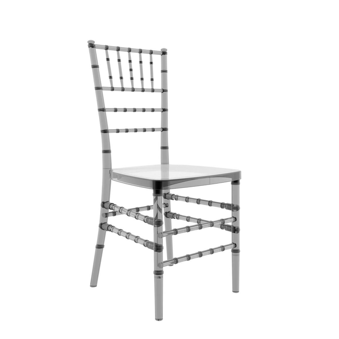 Cadeira Tiffany Policarbonato Fumê