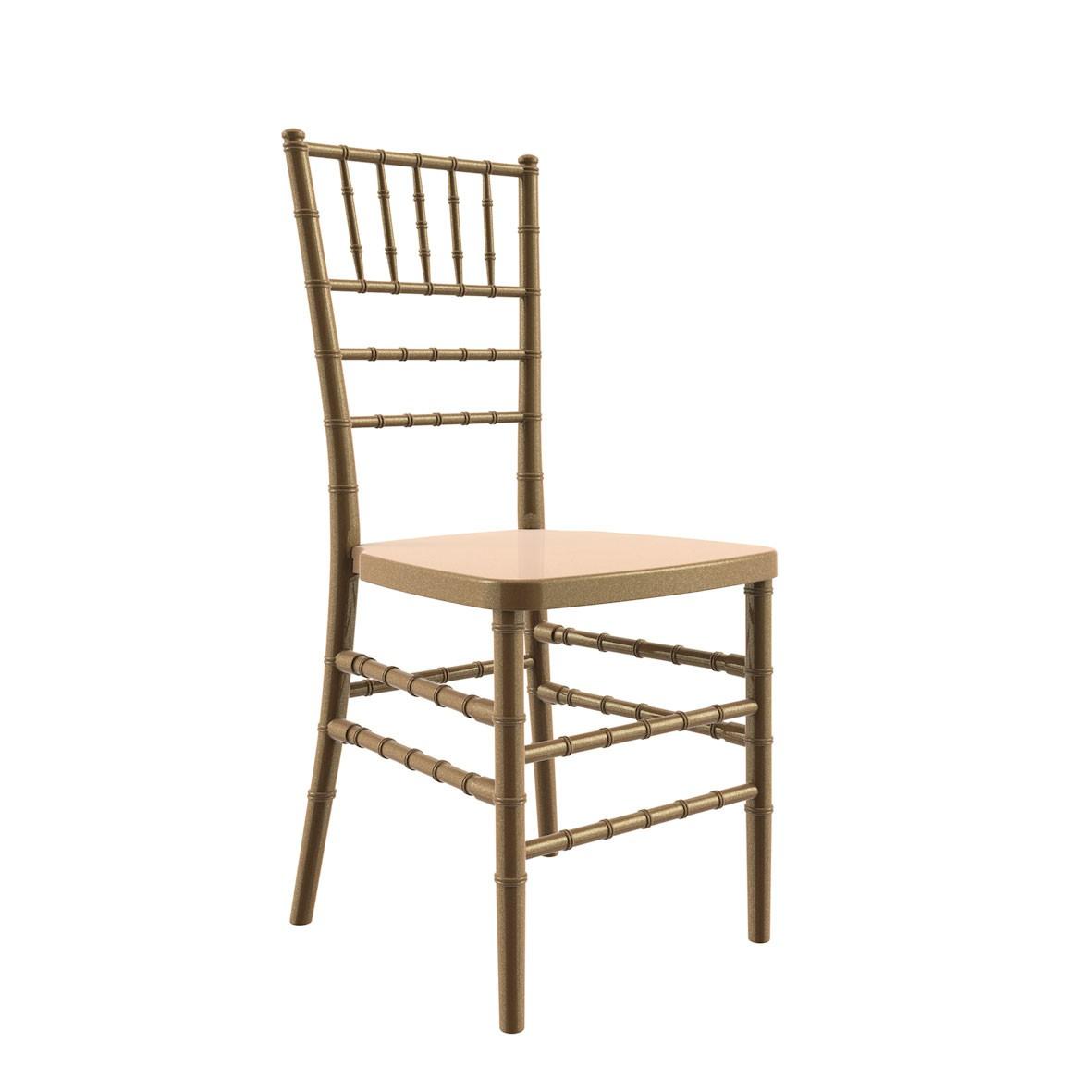 Cadeira Tiffany Polipropileno Dourada
