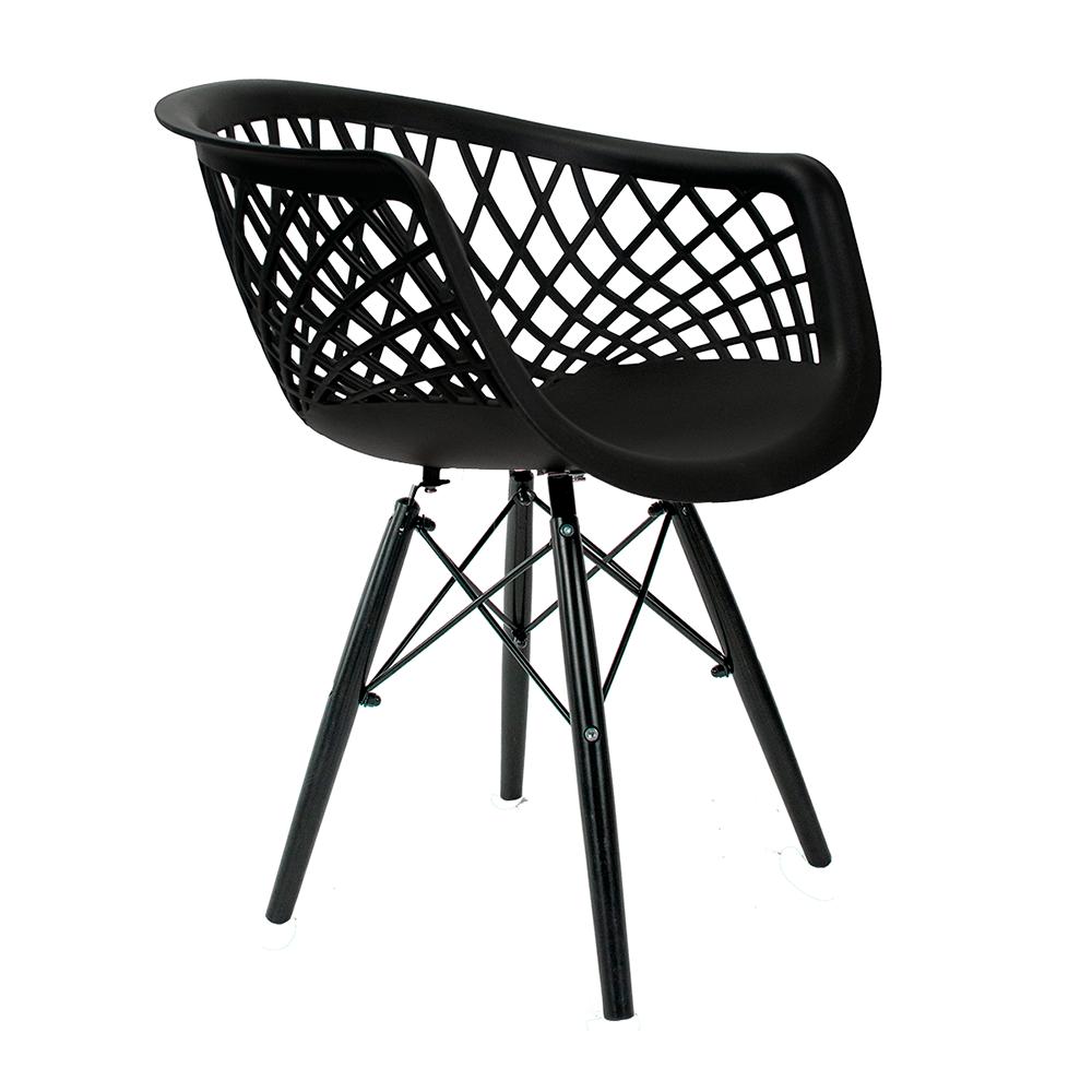 Cadeira Web Black Edition - Base Preta Polipropileno