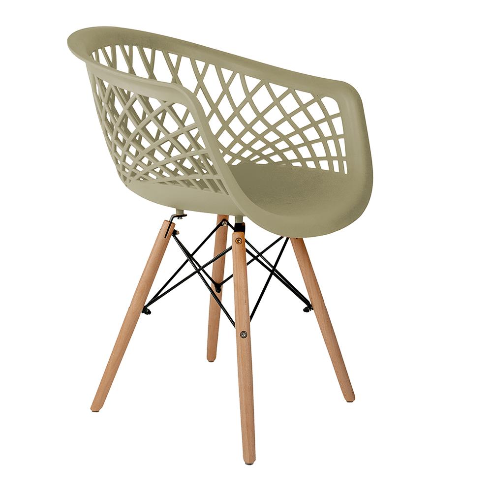 Cadeira Web Fendi - Base Madeira Natural
