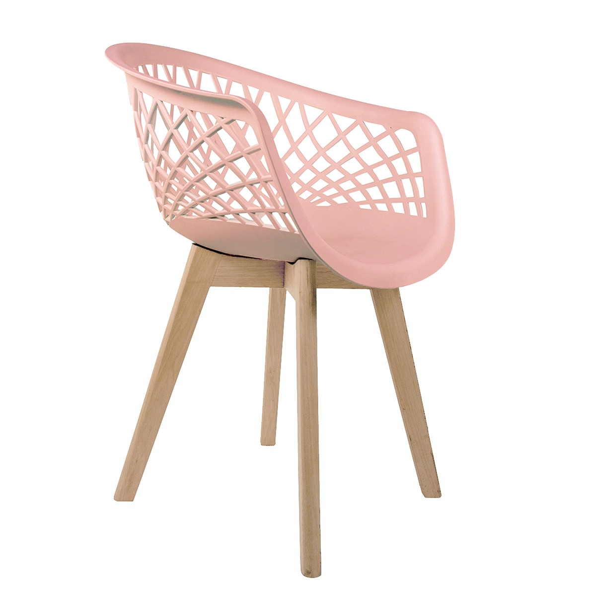Cadeira Web Rosa - Base Wood