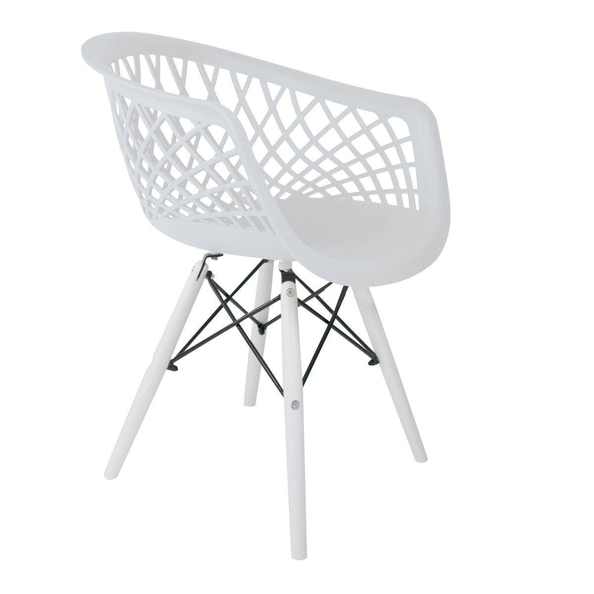 Cadeira Web White Edition - Base Branca Polipropileno