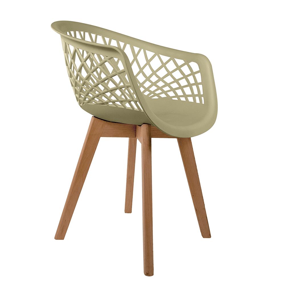 Cadeira Web Fendi - Base Wood