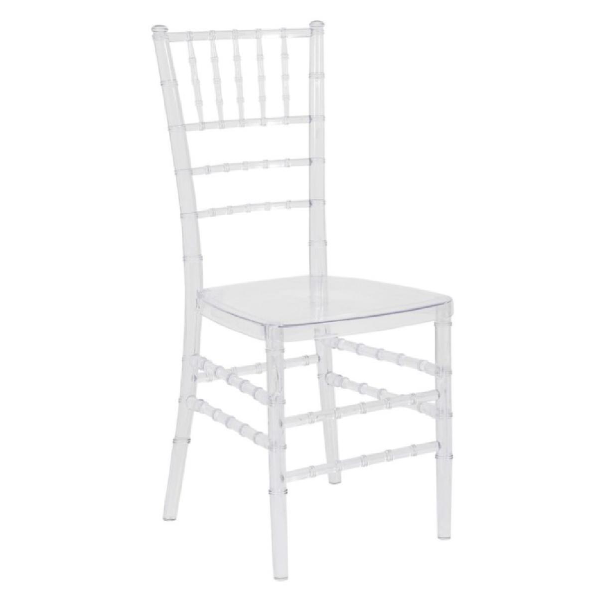 Conjunto Cadeira Tiffany Cristal + Almofada Preta c/ Velcro
