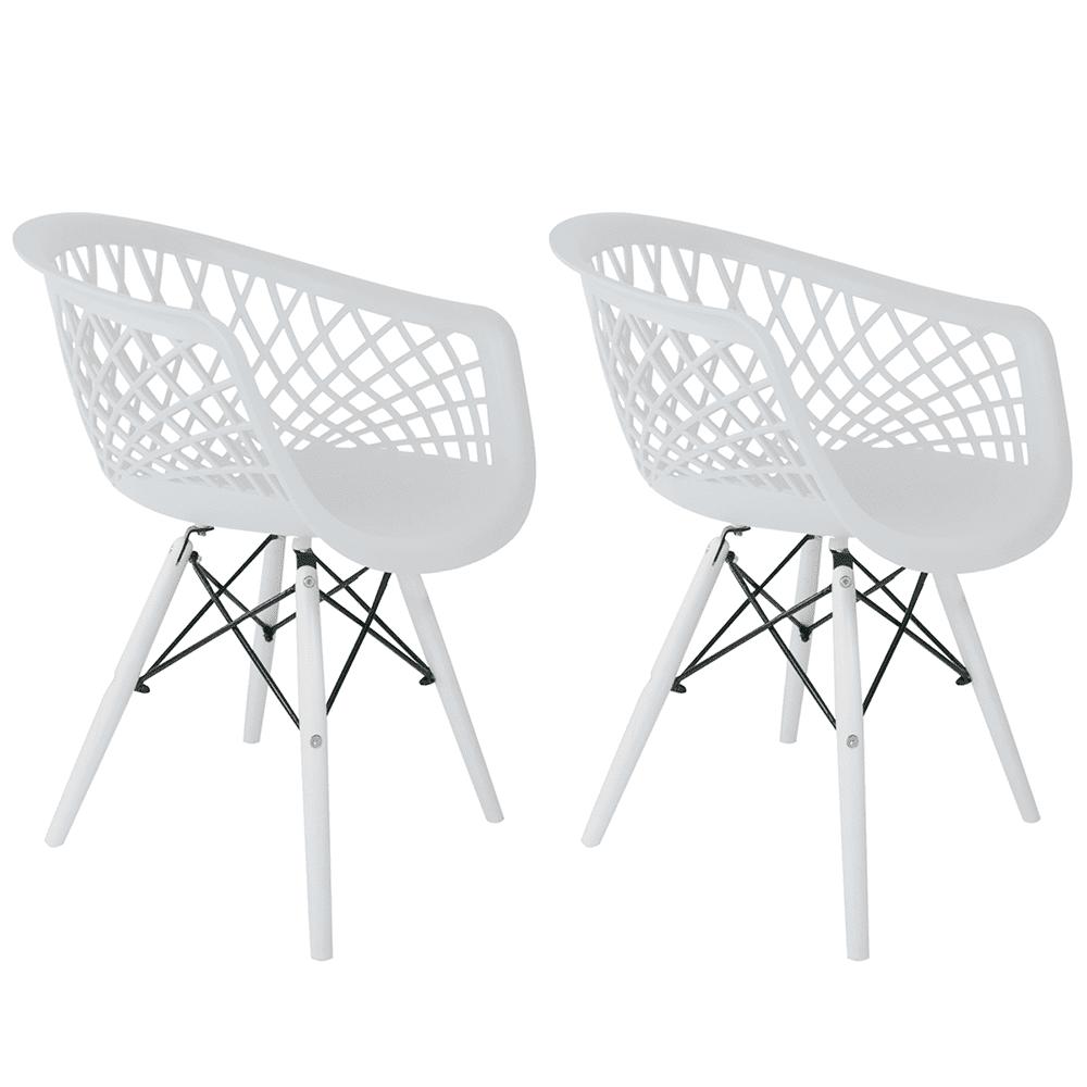 Conjunto com 2 Cadeiras Web White Edition - Base Branca