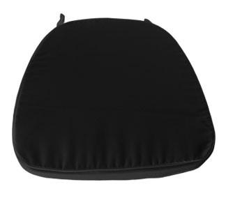 Correto - Conjunto Cadeira Tiffany Cristal + Almofada Preta c/ Velcro
