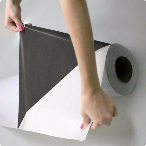 Adesivo Fosco Branco Bloqueador 1,00m  - TaColado