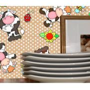Outlet - Adesivo Decorativo Happy Cow 0,45 x 2,00m