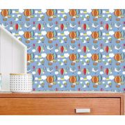 Outlet - Tecido Adesivo para móveis Decorativo Balões 0,45 X 1,00m