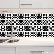 Adesivo Destacável Azulejo para Cozinha Átrio Preto